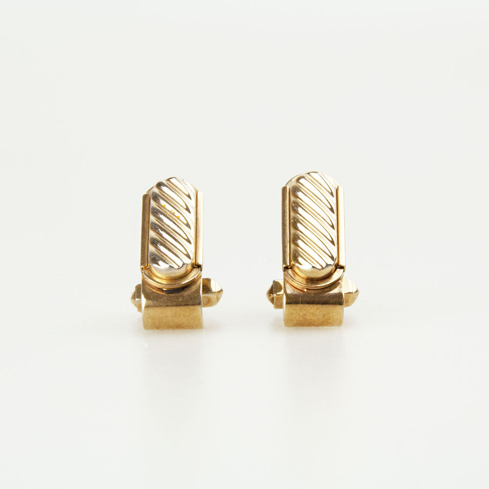 Rectangle Gold Vintage Cufflinks Front