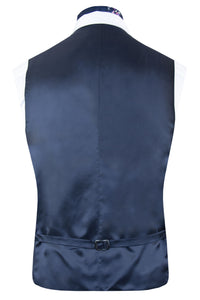 Striking Purple Silk Waistcoat Back