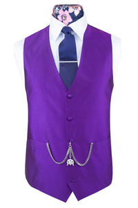 Striking Purple Silk Waistcoat