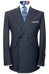 The Stanley Woven Oxford Blue Double Breasted Suit