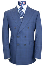 The Attleborough Cobalt Blue with Cerulean Windowpane Check Suit