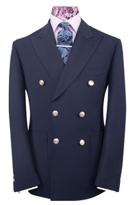 The Gilbert Midnight Double Breasted Navy Blazer