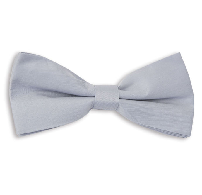 Light Grey Plain Skinny Bow Tie