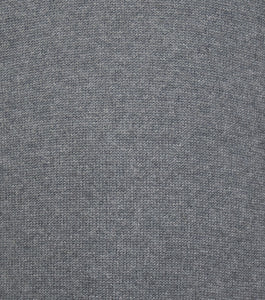 Grey Half Logo Zip WH Knitted Jumper Close Up