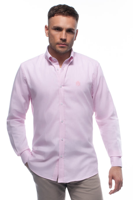 Pink Cotton Oxford Shirt