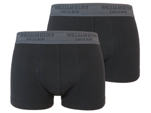 Black Stretch Cotton Jersey Boxer Shorts (2 Pack)
