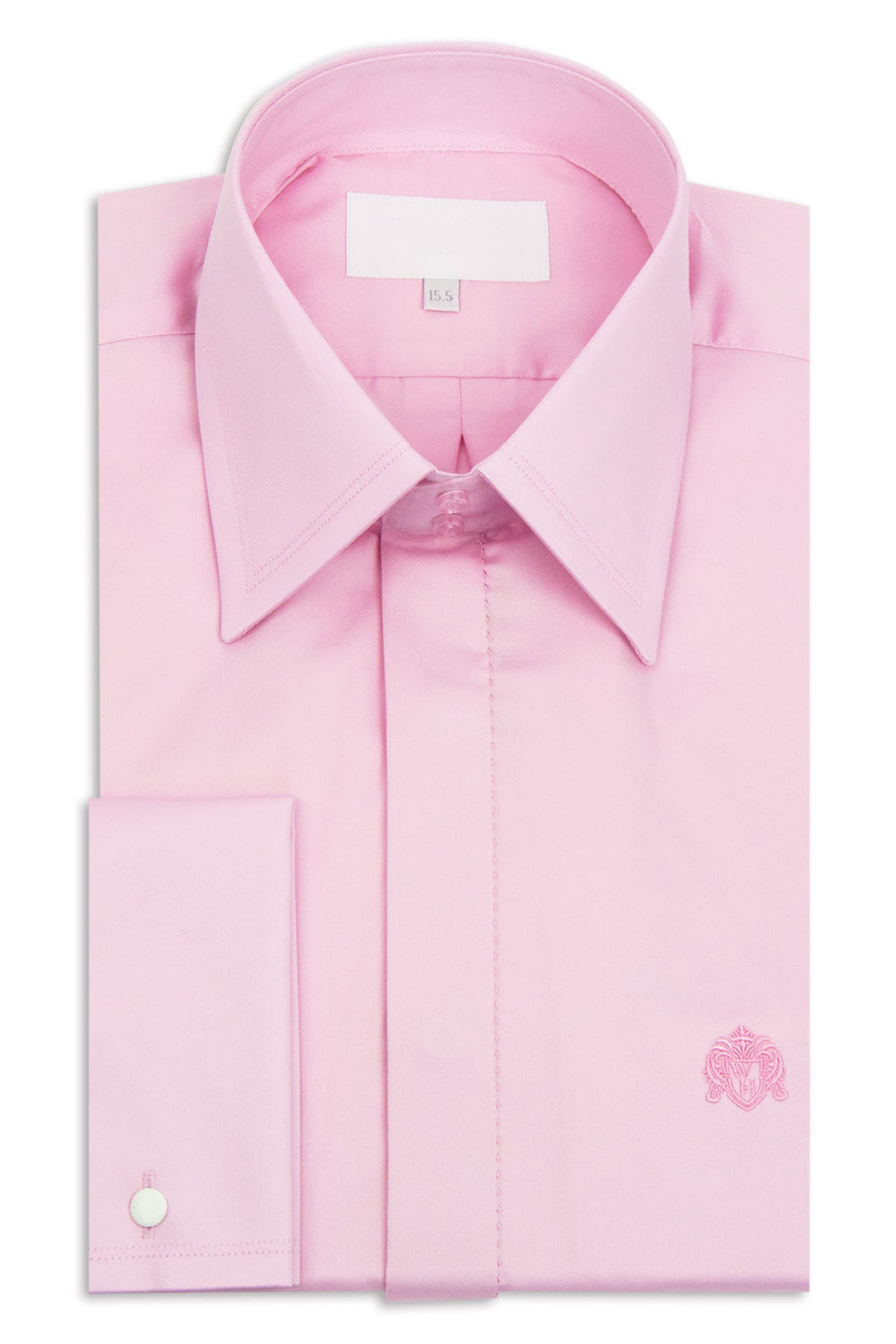 Classic Pink Forward Point Collar Shirt