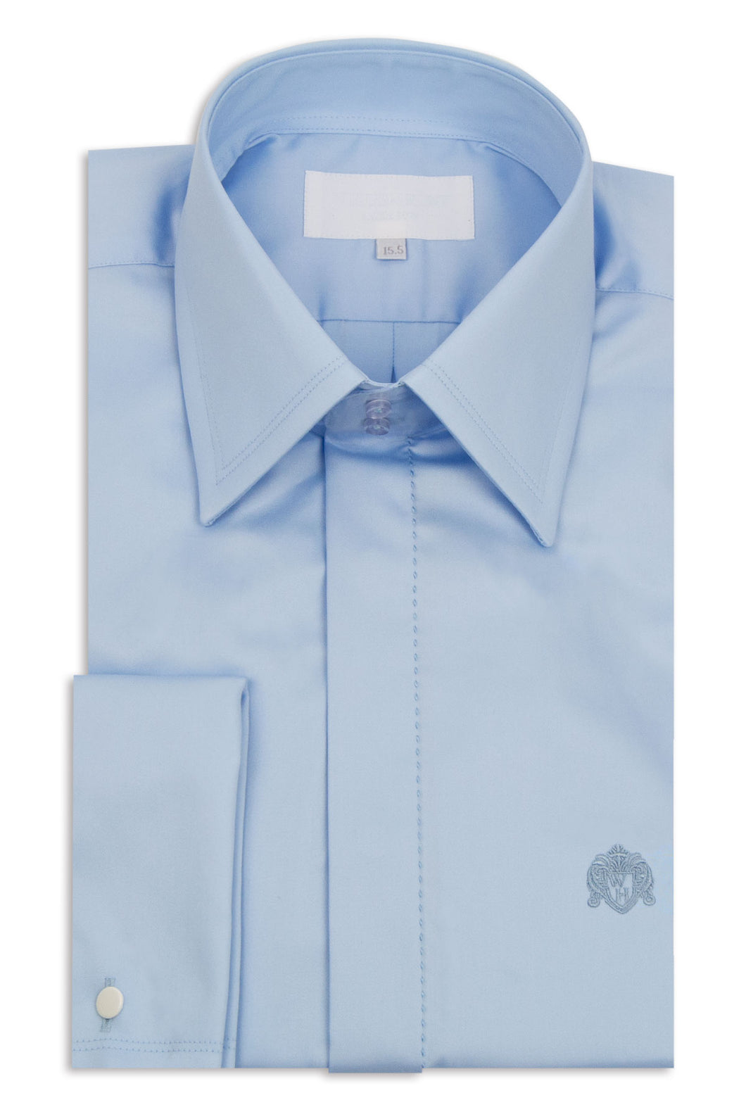 Classic Sky Blue Forward Point Collar Shirt