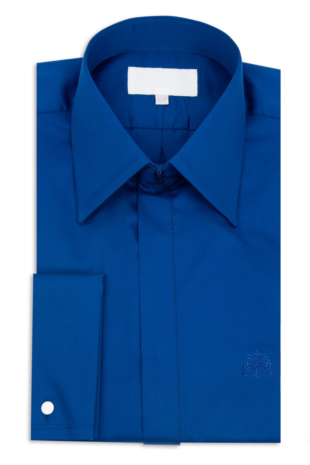 Classic Royal Blue Forward Point Collar Shirt