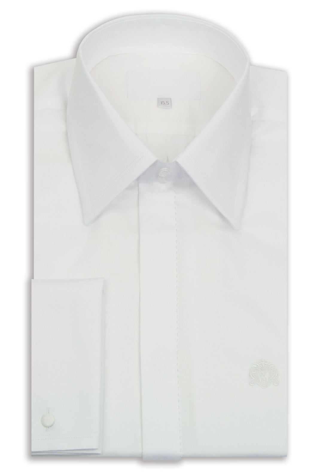 Classic White Forward Point Collar Shirt