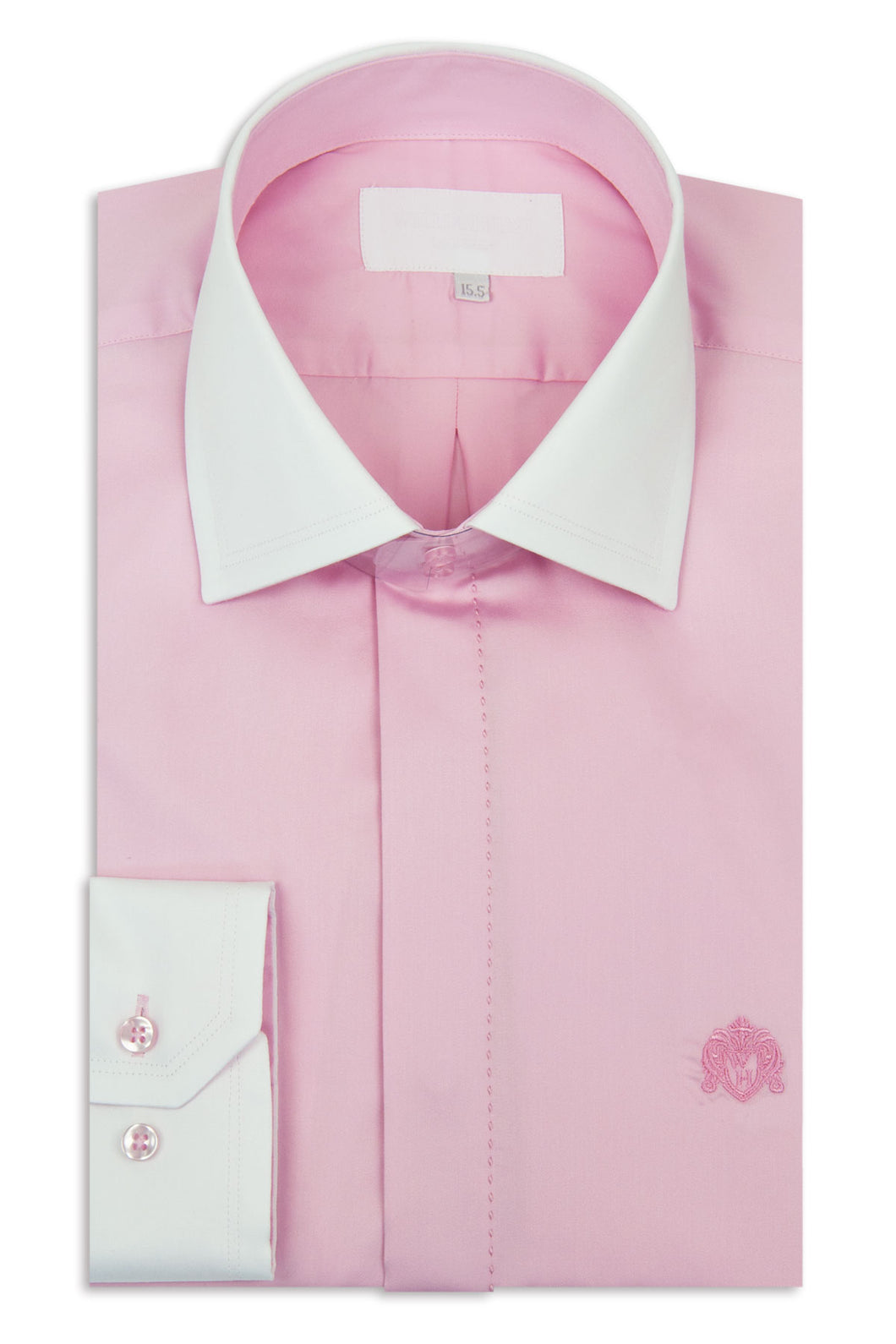 Pink Cutaway Collar Shirt with White Collar