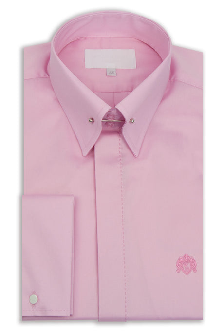 Pink Point Pin Collar Shirt