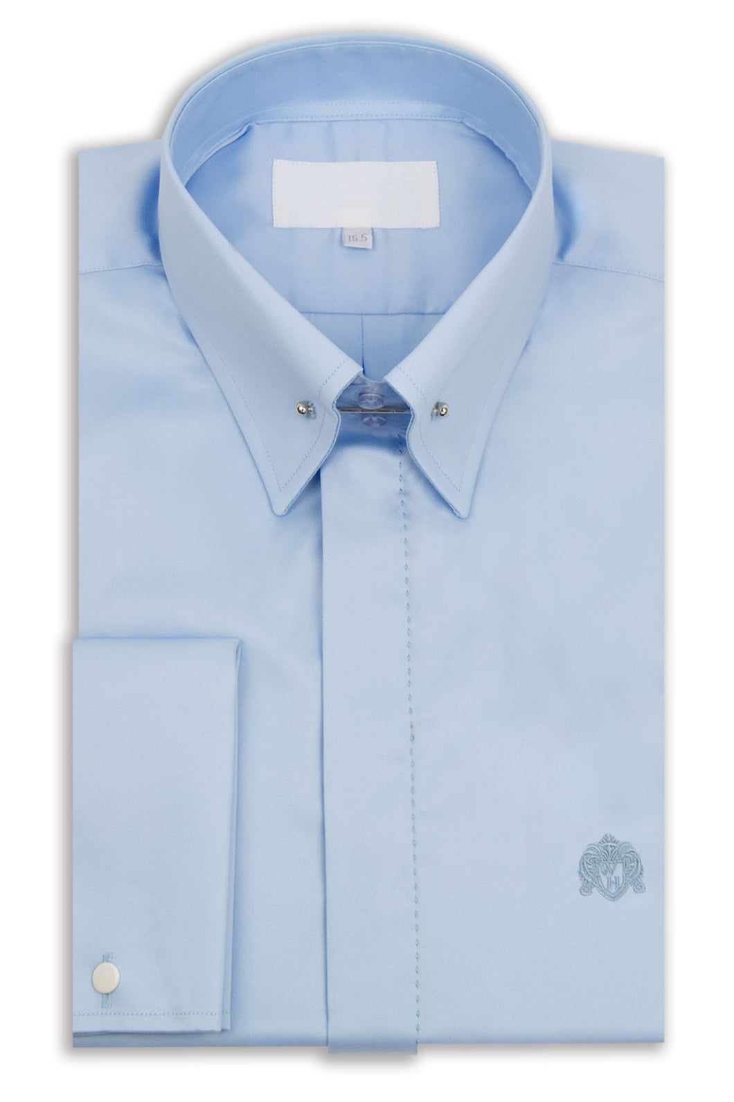 Sky Blue Point Pin Collar Shirt
