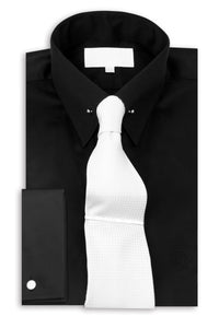 Black Point Pin Collar Shirt with Tie