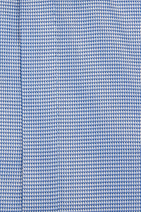 Blue Cutaway Collar Shirt with White Pattern Close