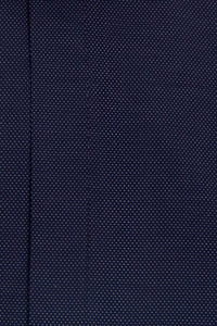 Navy Cutaway Collar Shirt with White Pin Dot Close