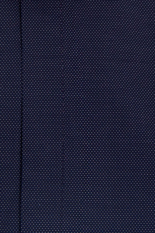 Navy Cutaway Collar Shirt with White Pin Dot