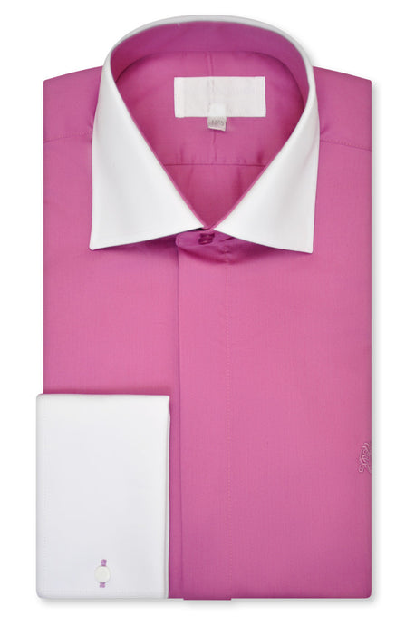 Fuchsia Pink Cutaway Collar Shirt - William Hunt Savile Row