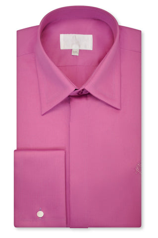 Fuchsia Pink Forward Point Collar Shirt - William Hunt Savile Row