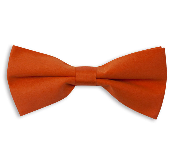 Orange Plain Bow Tie