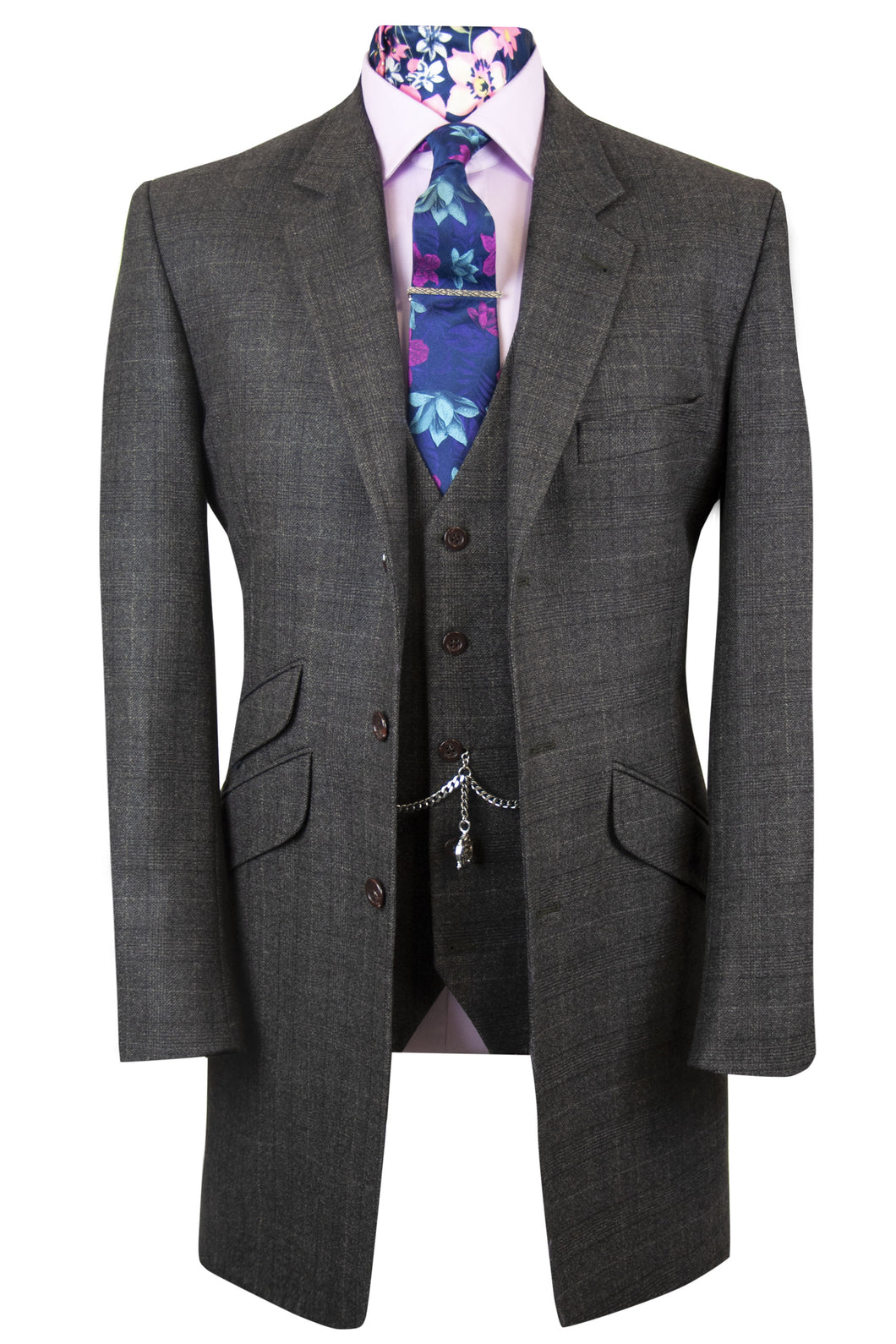 The Bowen Brown Long Jacket with Matching Waistcoat