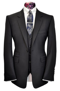 The Dodd's Navy Suit with Faint Stripe
