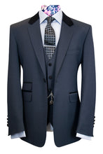 The Edwards Charcoal Velvet Collar Suit