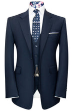 William Hunt Savile Row Navy blue notch lapel jacket and waistcoat