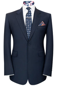 William Hunt Savile Row Navy blue notch lapel jacket