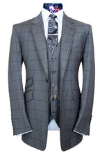 The Chester Grey Pinhead with Black Windowpane Overcheck Suit
