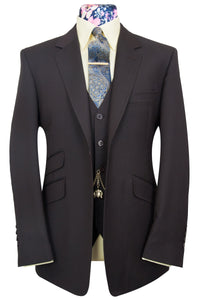 William Hunt Purple Label The Chester Cocoa Rib Suit