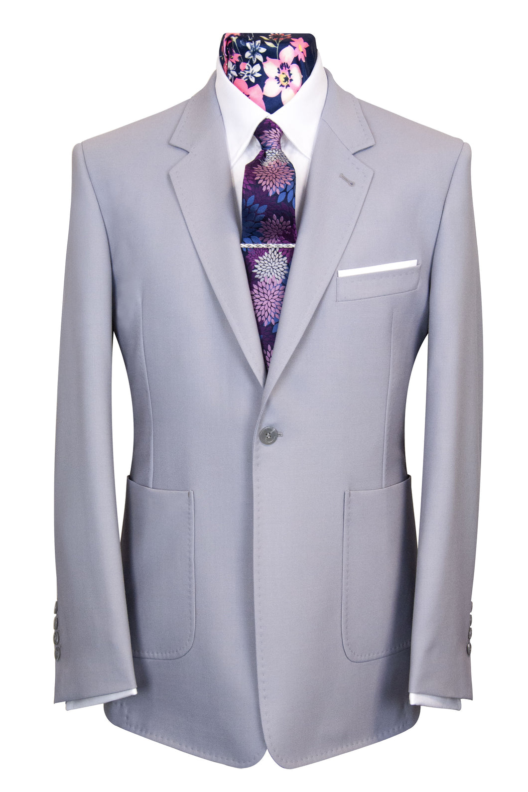William Hunt Savile Row | The Dalton Pastel Lilac Rib Suit