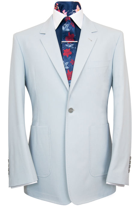 The Dalton Duck Egg Blue Rib Suit