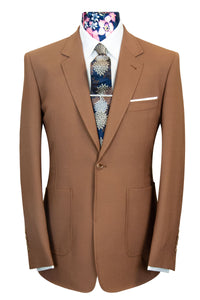 William Hunt Savile Row The Dalton Caramel Brown Suit