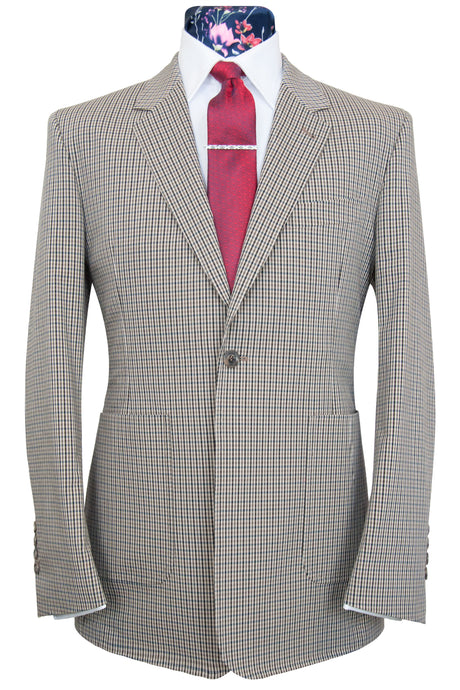 William Hunt Purple Label The Dalton Barley, Mocha and Blue Multi-check