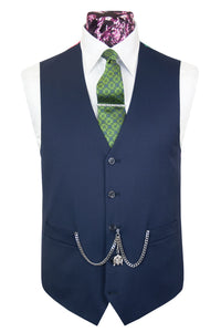 The Langmore Classic Navy Suit Waistcoat