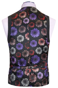 The Bradshaw Charcoal with Royal Blue Windowpane Check Back Waistcoat