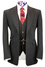 The Devon Black with Red and Yellow Pinstripe Suit