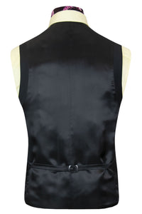 The Williams 91 Classic Black Waistcoat Back