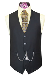 The Williams 91 Classic Black Waistcoat
