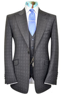 The Artlett Charcoal Grey Check Suit