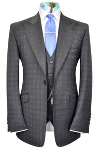 The Harrington Grey Suit with Grid Check