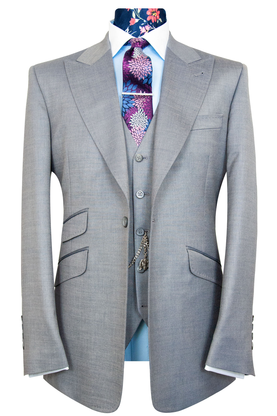 The Mountney Silver Grey Suit
