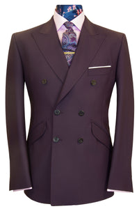 The Stanley Aubergine Double Breasted Suit