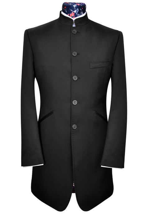 William Hunt Savile Row Classic Black Mao Nehru Suit