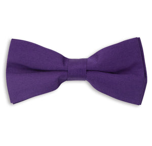 Purple Plain Skinny Bow Tie