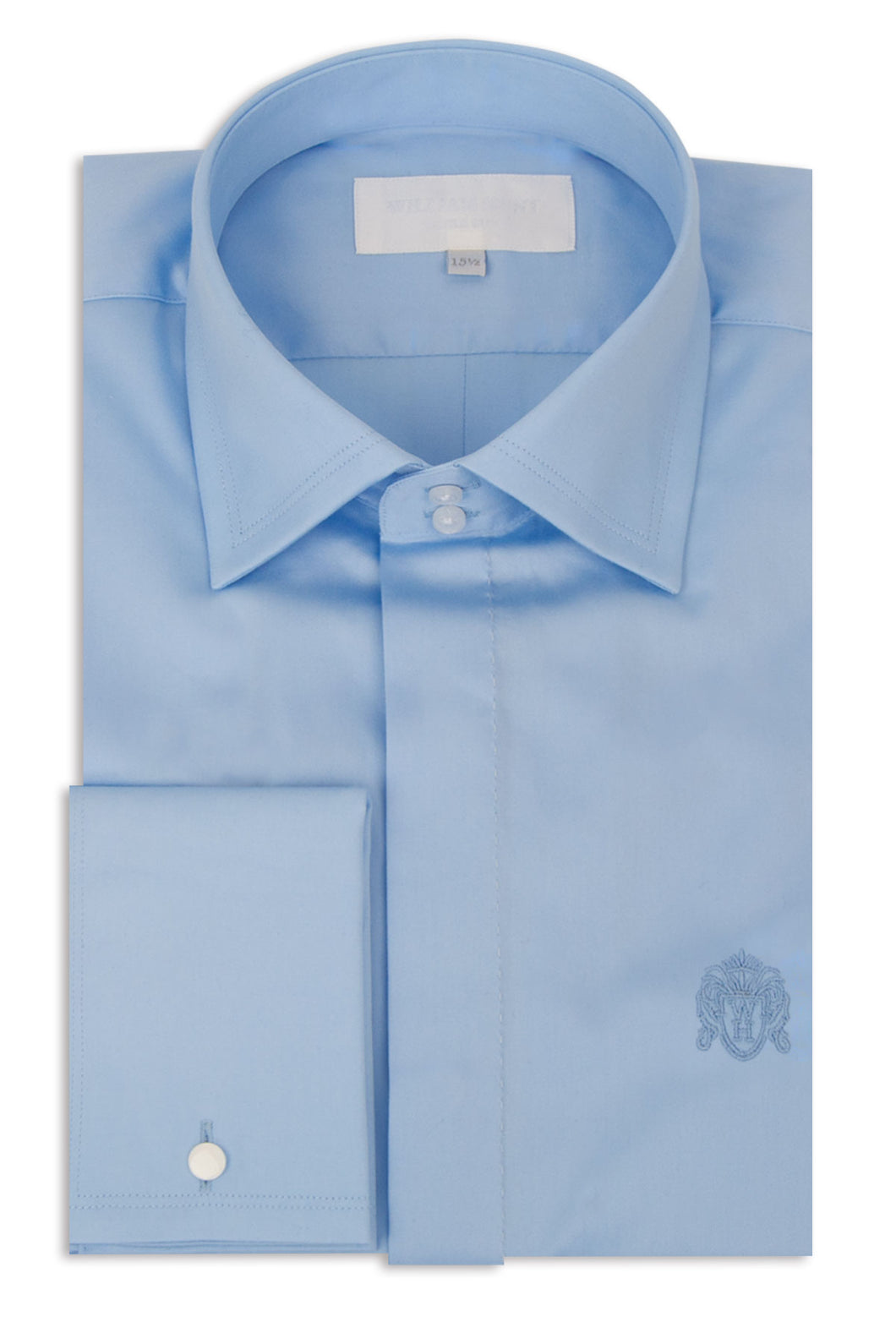 Sky Blue Cutaway Collar Shirt