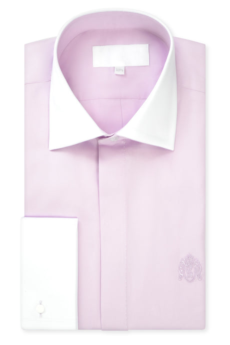 Washed Lilac Cutaway Collar Shirt with Matching Tie
