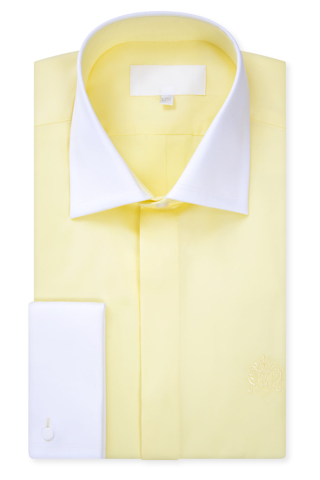 Lemon Yellow Cutaway Collar Shirt