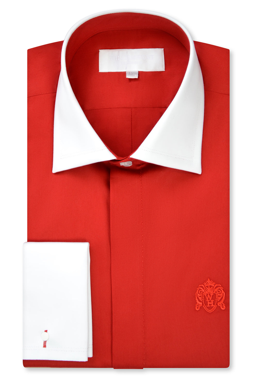 Candy Red Cutaway Collar Shirt